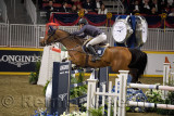 Conor Swail from Ireland riding GK Coco Chanel in the Longines FEI World Cup Show Jumping competition at the Royal Horse Show To
