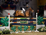 Erynn Ballard Canada riding Thalis Z in the Longines FEI World Cup Show Jumping competition at the Royal Horse Show Toronto