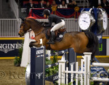 Adrienne Sternlicht USA riding Crystalline in the Longines FEI World Cup Show Jumping competition at the Royal Horse Show Toront