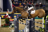 Amy Miller Canada riding Heros in the Longines FEI World Cup Show Jumping competition at the Royal Horse Show Toronto