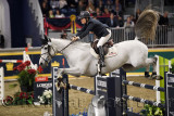 Leslie Howard USA riding Donna Speciale in the Longines FEI World Cup Show Jumping competition at the Royal Horse Show Toronto