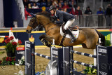 Ian Miller Captain Canada riding Dixson in the Longines FEI World Cup Show Jumping competition at the Royal Horse Show Toronto