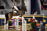 Keean White Canada riding For Freedom Z in the Longines FEI World Cup Show Jumping competition at the Royal Horse Show Toronto