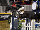 Tiffany Foster Canada riding Tripple X III in the Longines FEI World Cup Show Jumping competition at the Royal Horse Show Toront