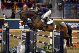 Elizabeth Madden USA riding Breitling LS in the Longines FEI World Cup Show Jumping competition at the Royal Horse Show Toronto