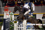 Jack Hardin Towell USA riding Lucifer V in the Longines FEI World Cup Show Jumping competition at the Royal Horse Show Toronto