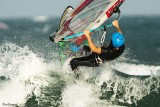 Wind surfer in the Wave
