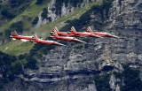 Patrouille Suisse in Front of the Glärnisch Mountain