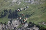 Patrouille Suisse in Front of the Wiggis Mountain