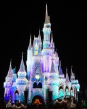 The castle in Christmas lights