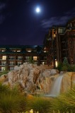 Wilderness Lodge and moon