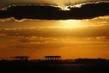 Sunset over Port Everglades