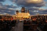 Sunset on Zuiderdam Lido deck aft