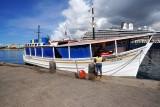 Venezuelan fishing boat vending in Curacao