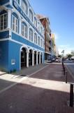 Curacao street on Sint Anna Bay
