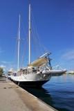 Sailboat on Sint Anna Bay