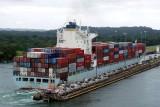Cargo ship entering Gatun locks