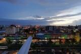Colon dusk skyline