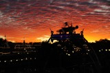 Amazing sunset sky over Tomorrowland