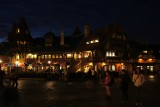 Fantasyland at night