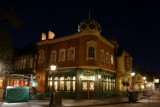 Rose and Crown pub at night