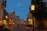 English street at dusk