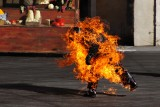 Flaming man stunt