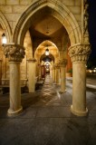 Italy hallway architecture at night