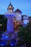 Eric's castle at night