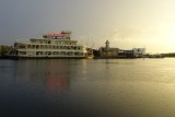 Rain and sunset over Downtown Disney