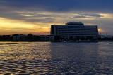 Contemporary Resort, sunset