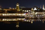 Boathouse and Disney Springs at night