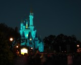 Cinderella's castle lights up
