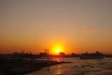 Port Everglades industrial sunset
