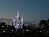 Cinderella's Castle in Christmas lights