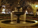 French Quarter fountain at night