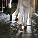 22. walking in unison