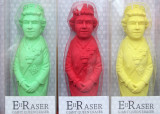 Three Royal Erasers