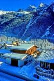 Alpine Village in the Snow