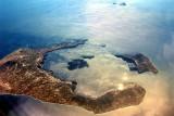 Santorini Aerial, From 35000Ft