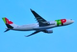 TAP-Portugal A330-200, CS-TOO, Climbing at Dusk