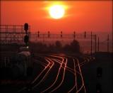 Tracks at Sunset