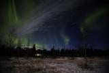 Lone Cabin Aurora Night