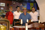 2017 - Ken, John and Staff of the Madeirense Restaurant in Faro, Algarve - Portugal