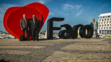 2017 - Ken, Fraser and John at Faro marina, Algarve - Portugal