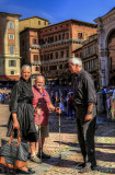 2017 - Linda, Ken & Paul in Piazza del Campo - Siena, Tuscany - Italy