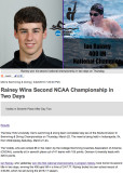 Ian Rainey Wins Championships at NCAA Meet