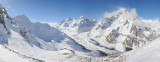 Valle d'Aosta, Courmayeur, Mont Blanc de Courmayeur mount and Miage Glacier