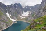 Lofoten islands, view on Trollfjordvatnet lake