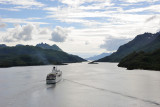 Lofoten islands. View from the Raftsund Bridge.